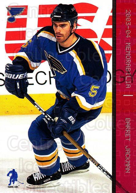 2003-04 BAP Memorabilia Ruby #11 Barret Jackman<br/>4 In Stock - $3.00 each - <a href=https://centericecollectibles.foxycart.com/cart?name=2003-04%20BAP%20Memorabilia%20Ruby%20%2311%20Barret%20Jackman...&quantity_max=4&price=$3.00&code=441412 class=foxycart> Buy it now! </a>