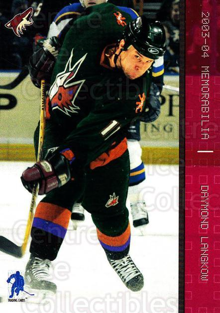 2003-04 BAP Memorabilia Ruby #22 Daymond Langkow<br/>2 In Stock - $3.00 each - <a href=https://centericecollectibles.foxycart.com/cart?name=2003-04%20BAP%20Memorabilia%20Ruby%20%2322%20Daymond%20Langkow...&quantity_max=2&price=$3.00&code=441434 class=foxycart> Buy it now! </a>