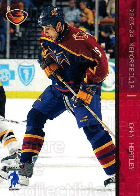 2003-04 BAP Memorabilia Ruby #20 Dany Heatley<br/>3 In Stock - $3.00 each - <a href=https://centericecollectibles.foxycart.com/cart?name=2003-04%20BAP%20Memorabilia%20Ruby%20%2320%20Dany%20Heatley...&quantity_max=3&price=$3.00&code=441469 class=foxycart> Buy it now! </a>