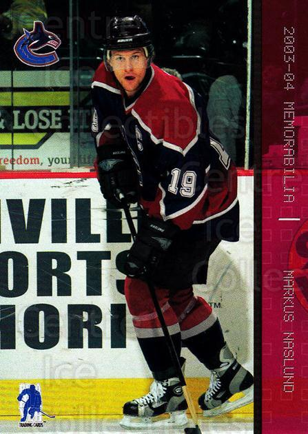 2003-04 BAP Memorabilia Ruby #50 Markus Naslund<br/>4 In Stock - $3.00 each - <a href=https://centericecollectibles.foxycart.com/cart?name=2003-04%20BAP%20Memorabilia%20Ruby%20%2350%20Markus%20Naslund...&quantity_max=4&price=$3.00&code=441490 class=foxycart> Buy it now! </a>