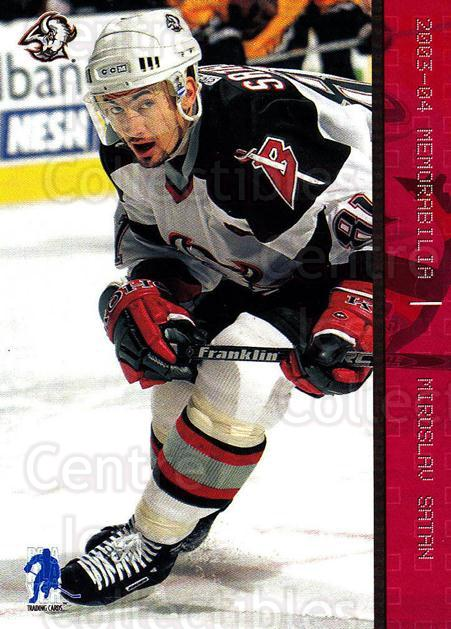 2003-04 BAP Memorabilia Ruby #60 Miroslav Satan<br/>2 In Stock - $3.00 each - <a href=https://centericecollectibles.foxycart.com/cart?name=2003-04%20BAP%20Memorabilia%20Ruby%20%2360%20Miroslav%20Satan...&quantity_max=2&price=$3.00&code=441497 class=foxycart> Buy it now! </a>