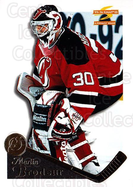 1995-96 Summit #27 Martin Brodeur<br/>5 In Stock - $2.00 each - <a href=https://centericecollectibles.foxycart.com/cart?name=1995-96%20Summit%20%2327%20Martin%20Brodeur...&price=$2.00&code=44151 class=foxycart> Buy it now! </a>