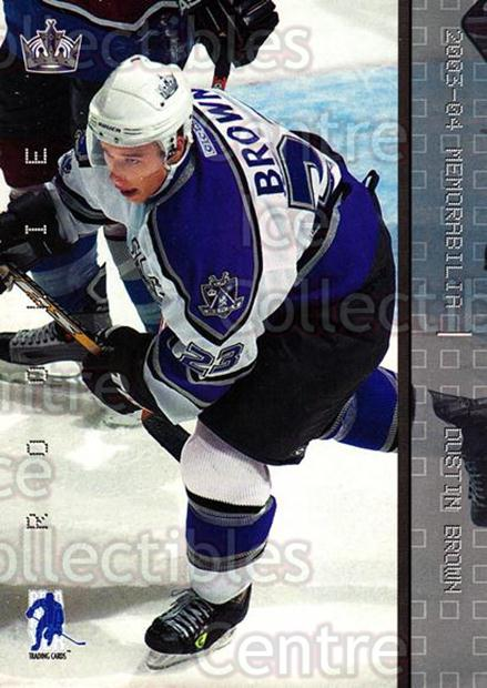 2003-04 BAP Memorabilia #178 Dustin Brown<br/>42 In Stock - $2.00 each - <a href=https://centericecollectibles.foxycart.com/cart?name=2003-04%20BAP%20Memorabilia%20%23178%20Dustin%20Brown...&quantity_max=42&price=$2.00&code=441743 class=foxycart> Buy it now! </a>