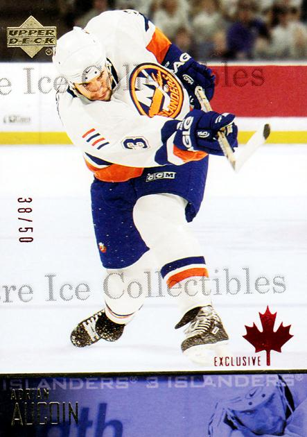 2003-04 Upper Deck UD Exclusives Canadian #121 Adrian Aucoin<br/>1 In Stock - $5.00 each - <a href=https://centericecollectibles.foxycart.com/cart?name=2003-04%20Upper%20Deck%20UD%20Exclusives%20Canadian%20%23121%20Adrian%20Aucoin...&quantity_max=1&price=$5.00&code=441947 class=foxycart> Buy it now! </a>