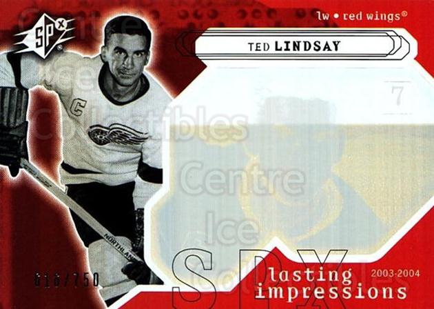 2003-04 SPx #108 Ted Lindsay<br/>2 In Stock - $3.00 each - <a href=https://centericecollectibles.foxycart.com/cart?name=2003-04%20SPx%20%23108%20Ted%20Lindsay...&quantity_max=2&price=$3.00&code=443383 class=foxycart> Buy it now! </a>