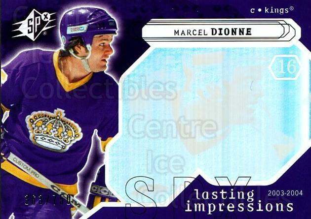 2003-04 SPx #109 Marcel Dionne<br/>3 In Stock - $3.00 each - <a href=https://centericecollectibles.foxycart.com/cart?name=2003-04%20SPx%20%23109%20Marcel%20Dionne...&quantity_max=3&price=$3.00&code=443384 class=foxycart> Buy it now! </a>