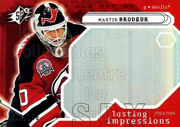 2003-04 SPx #117 Martin Brodeur<br/>1 In Stock - $5.00 each - <a href=https://centericecollectibles.foxycart.com/cart?name=2003-04%20SPx%20%23117%20Martin%20Brodeur...&quantity_max=1&price=$5.00&code=443392 class=foxycart> Buy it now! </a>