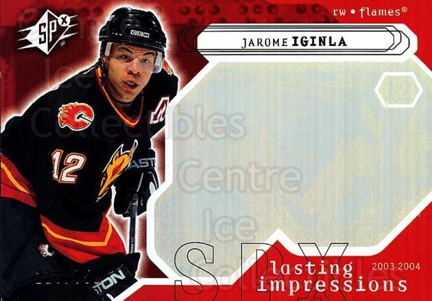 2003-04 SPx #118 Jarome Iginla<br/>3 In Stock - $3.00 each - <a href=https://centericecollectibles.foxycart.com/cart?name=2003-04%20SPx%20%23118%20Jarome%20Iginla...&quantity_max=3&price=$3.00&code=443393 class=foxycart> Buy it now! </a>