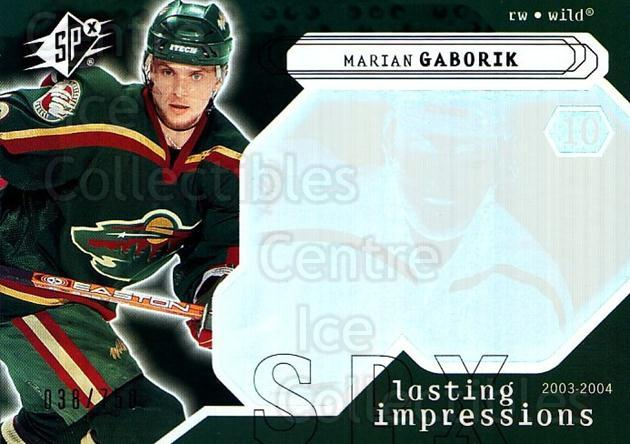 2003-04 SPx #122 Marian Gaborik<br/>3 In Stock - $3.00 each - <a href=https://centericecollectibles.foxycart.com/cart?name=2003-04%20SPx%20%23122%20Marian%20Gaborik...&quantity_max=3&price=$3.00&code=443397 class=foxycart> Buy it now! </a>