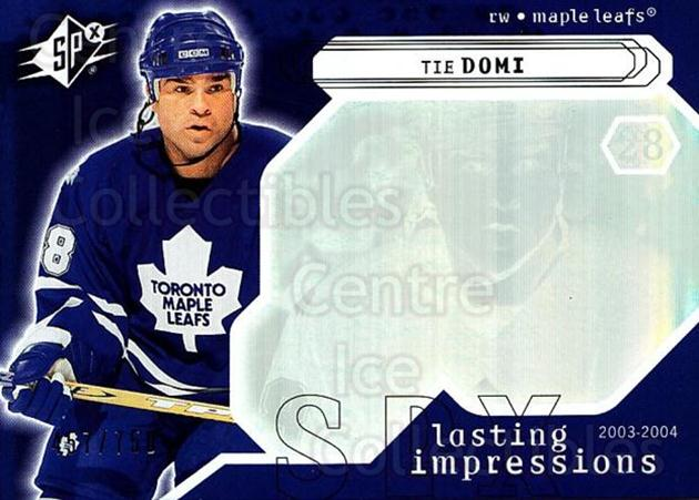 2003-04 SPx #125 Tie Domi<br/>3 In Stock - $3.00 each - <a href=https://centericecollectibles.foxycart.com/cart?name=2003-04%20SPx%20%23125%20Tie%20Domi...&quantity_max=3&price=$3.00&code=443400 class=foxycart> Buy it now! </a>
