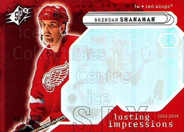 2003-04 SPx #127 Brendan Shanahan<br/>3 In Stock - $3.00 each - <a href=https://centericecollectibles.foxycart.com/cart?name=2003-04%20SPx%20%23127%20Brendan%20Shanaha...&quantity_max=3&price=$3.00&code=443402 class=foxycart> Buy it now! </a>