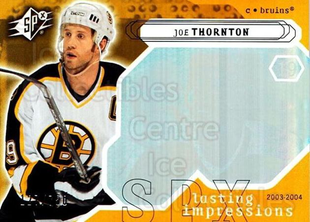 2003-04 SPx #129 Joe Thornton<br/>3 In Stock - $3.00 each - <a href=https://centericecollectibles.foxycart.com/cart?name=2003-04%20SPx%20%23129%20Joe%20Thornton...&quantity_max=3&price=$3.00&code=443404 class=foxycart> Buy it now! </a>