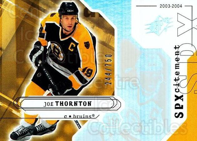 2003-04 SPx #133 Joe Thornton<br/>2 In Stock - $3.00 each - <a href=https://centericecollectibles.foxycart.com/cart?name=2003-04%20SPx%20%23133%20Joe%20Thornton...&quantity_max=2&price=$3.00&code=443408 class=foxycart> Buy it now! </a>