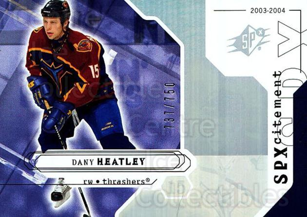 2003-04 SPx #135 Dany Heatley<br/>2 In Stock - $3.00 each - <a href=https://centericecollectibles.foxycart.com/cart?name=2003-04%20SPx%20%23135%20Dany%20Heatley...&quantity_max=2&price=$3.00&code=443410 class=foxycart> Buy it now! </a>
