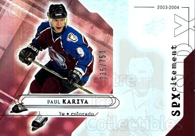 2003-04 SPx #140 Paul Kariya<br/>1 In Stock - $3.00 each - <a href=https://centericecollectibles.foxycart.com/cart?name=2003-04%20SPx%20%23140%20Paul%20Kariya...&quantity_max=1&price=$3.00&code=443415 class=foxycart> Buy it now! </a>