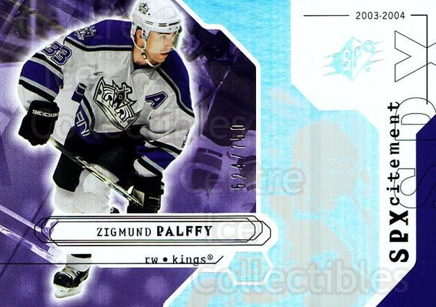 2003-04 SPx #143 Zigmund Palffy<br/>2 In Stock - $3.00 each - <a href=https://centericecollectibles.foxycart.com/cart?name=2003-04%20SPx%20%23143%20Zigmund%20Palffy...&quantity_max=2&price=$3.00&code=443418 class=foxycart> Buy it now! </a>