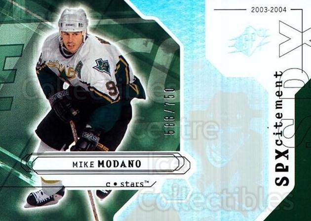 2003-04 SPx #147 Mike Modano<br/>1 In Stock - $3.00 each - <a href=https://centericecollectibles.foxycart.com/cart?name=2003-04%20SPx%20%23147%20Mike%20Modano...&quantity_max=1&price=$3.00&code=443422 class=foxycart> Buy it now! </a>