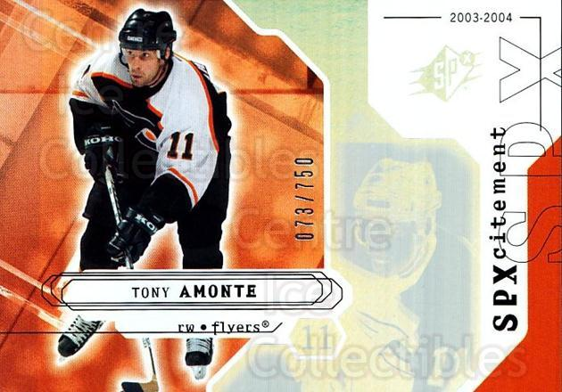 2003-04 SPx #148 Tony Amonte<br/>2 In Stock - $3.00 each - <a href=https://centericecollectibles.foxycart.com/cart?name=2003-04%20SPx%20%23148%20Tony%20Amonte...&quantity_max=2&price=$3.00&code=443423 class=foxycart> Buy it now! </a>