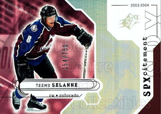 2003-04 SPx #153 Teemu Selanne<br/>2 In Stock - $5.00 each - <a href=https://centericecollectibles.foxycart.com/cart?name=2003-04%20SPx%20%23153%20Teemu%20Selanne...&quantity_max=2&price=$5.00&code=443428 class=foxycart> Buy it now! </a>