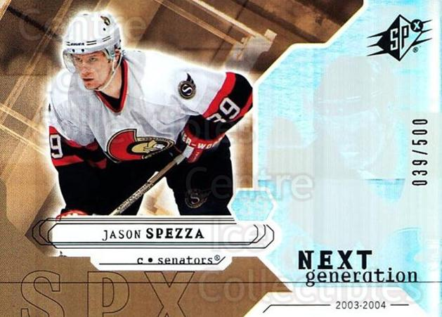 2003-04 SPx #163 Jason Spezza<br/>3 In Stock - $5.00 each - <a href=https://centericecollectibles.foxycart.com/cart?name=2003-04%20SPx%20%23163%20Jason%20Spezza...&quantity_max=3&price=$5.00&code=443438 class=foxycart> Buy it now! </a>