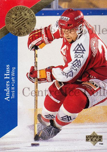 1995-96 Swedish Upper Deck 1st Division Stars #1 Anders Huss<br/>7 In Stock - $2.00 each - <a href=https://centericecollectibles.foxycart.com/cart?name=1995-96%20Swedish%20Upper%20Deck%201st%20Division%20Stars%20%231%20Anders%20Huss...&quantity_max=7&price=$2.00&code=44345 class=foxycart> Buy it now! </a>