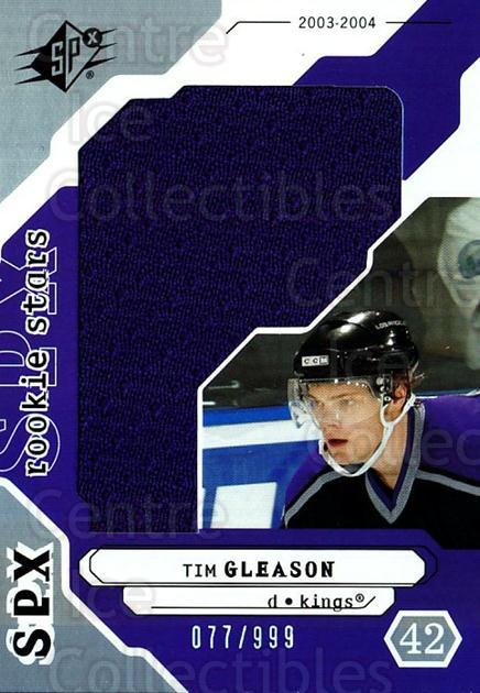 2003-04 SPx #192 Tim Gleason<br/>2 In Stock - $5.00 each - <a href=https://centericecollectibles.foxycart.com/cart?name=2003-04%20SPx%20%23192%20Tim%20Gleason...&quantity_max=2&price=$5.00&code=443467 class=foxycart> Buy it now! </a>