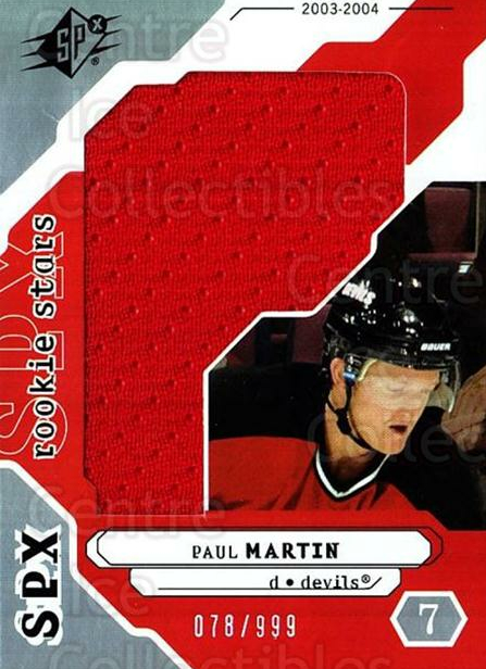 2003-04 SPx #195 Paul Martin<br/>1 In Stock - $5.00 each - <a href=https://centericecollectibles.foxycart.com/cart?name=2003-04%20SPx%20%23195%20Paul%20Martin...&quantity_max=1&price=$5.00&code=443470 class=foxycart> Buy it now! </a>