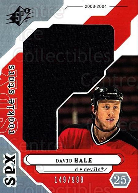 2003-04 SPx #198 David Hale<br/>3 In Stock - $5.00 each - <a href=https://centericecollectibles.foxycart.com/cart?name=2003-04%20SPx%20%23198%20David%20Hale...&quantity_max=3&price=$5.00&code=443473 class=foxycart> Buy it now! </a>