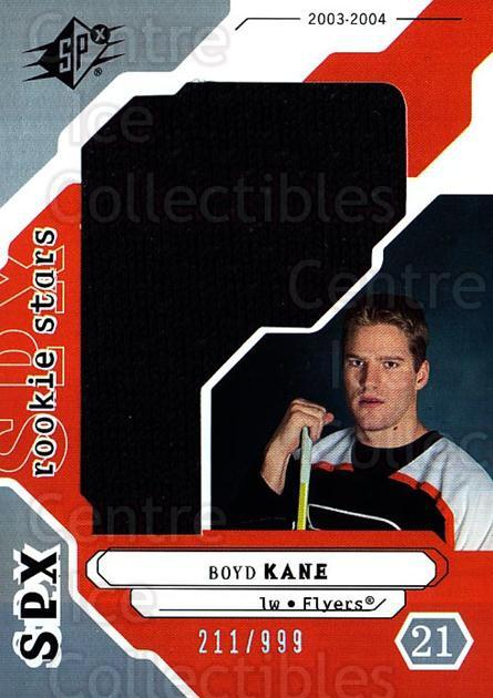2003-04 SPx #200 Boyd Kane<br/>1 In Stock - $5.00 each - <a href=https://centericecollectibles.foxycart.com/cart?name=2003-04%20SPx%20%23200%20Boyd%20Kane...&quantity_max=1&price=$5.00&code=443475 class=foxycart> Buy it now! </a>