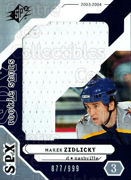 2003-04 SPx #202 Marek Zidlicky<br/>2 In Stock - $5.00 each - <a href=https://centericecollectibles.foxycart.com/cart?name=2003-04%20SPx%20%23202%20Marek%20Zidlicky...&quantity_max=2&price=$5.00&code=443477 class=foxycart> Buy it now! </a>