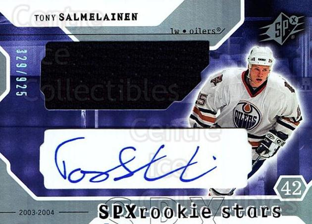 2003-04 SPx #229 Tony Salmelainen<br/>1 In Stock - $10.00 each - <a href=https://centericecollectibles.foxycart.com/cart?name=2003-04%20SPx%20%23229%20Tony%20Salmelaine...&quantity_max=1&price=$10.00&code=443504 class=foxycart> Buy it now! </a>