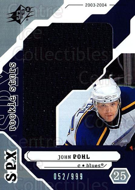 2003-04 SPx #230 John Pohl<br/>2 In Stock - $5.00 each - <a href=https://centericecollectibles.foxycart.com/cart?name=2003-04%20SPx%20%23230%20John%20Pohl...&quantity_max=2&price=$5.00&code=443505 class=foxycart> Buy it now! </a>