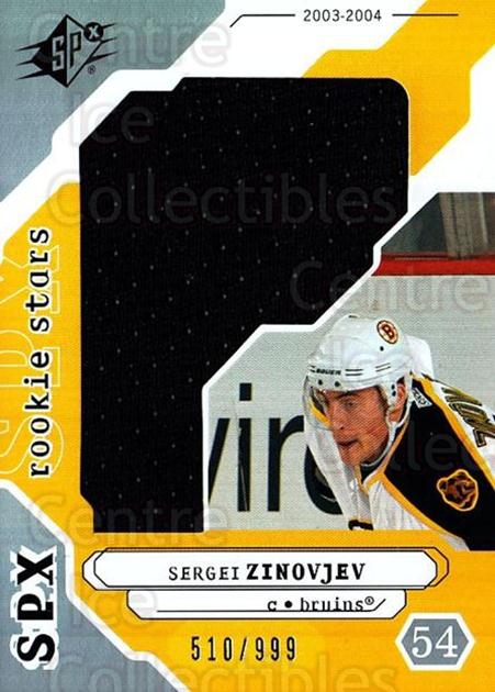 2003-04 SPx #231 Sergei Zinovjev<br/>1 In Stock - $5.00 each - <a href=https://centericecollectibles.foxycart.com/cart?name=2003-04%20SPx%20%23231%20Sergei%20Zinovjev...&quantity_max=1&price=$5.00&code=443506 class=foxycart> Buy it now! </a>