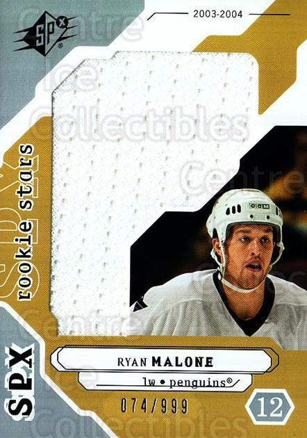 2003-04 SPx #235 Ryan Malone<br/>1 In Stock - $10.00 each - <a href=https://centericecollectibles.foxycart.com/cart?name=2003-04%20SPx%20%23235%20Ryan%20Malone...&quantity_max=1&price=$10.00&code=443510 class=foxycart> Buy it now! </a>
