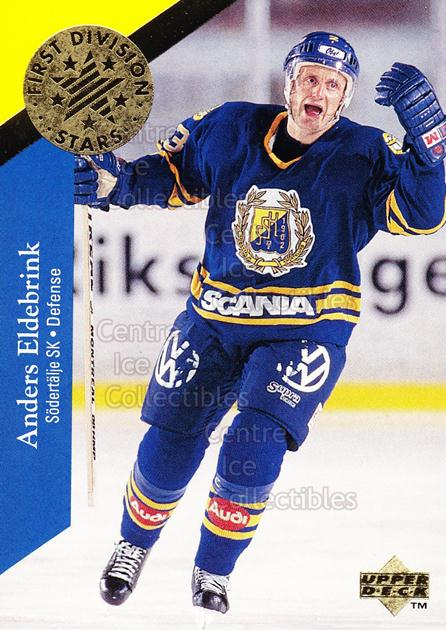 1995-96 Swedish Upper Deck 1st Division Stars #6 Anders Eldebrink<br/>4 In Stock - $2.00 each - <a href=https://centericecollectibles.foxycart.com/cart?name=1995-96%20Swedish%20Upper%20Deck%201st%20Division%20Stars%20%236%20Anders%20Eldebrin...&quantity_max=4&price=$2.00&code=44354 class=foxycart> Buy it now! </a>