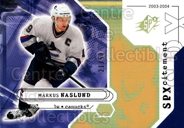 2003-04 SPx Radiance #152 Markus Naslund<br/>1 In Stock - $5.00 each - <a href=https://centericecollectibles.foxycart.com/cart?name=2003-04%20SPx%20Radiance%20%23152%20Markus%20Naslund...&quantity_max=1&price=$5.00&code=443602 class=foxycart> Buy it now! </a>