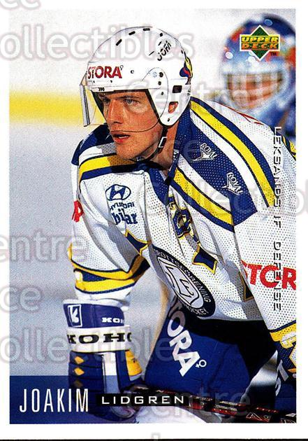 1995-96 Swedish Upper Deck #100 Joakim Lidgren<br/>10 In Stock - $2.00 each - <a href=https://centericecollectibles.foxycart.com/cart?name=1995-96%20Swedish%20Upper%20Deck%20%23100%20Joakim%20Lidgren...&quantity_max=10&price=$2.00&code=44364 class=foxycart> Buy it now! </a>