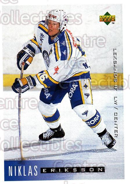1995-96 Swedish Upper Deck #103 Niklas Eriksson<br/>9 In Stock - $2.00 each - <a href=https://centericecollectibles.foxycart.com/cart?name=1995-96%20Swedish%20Upper%20Deck%20%23103%20Niklas%20Eriksson...&quantity_max=9&price=$2.00&code=44367 class=foxycart> Buy it now! </a>