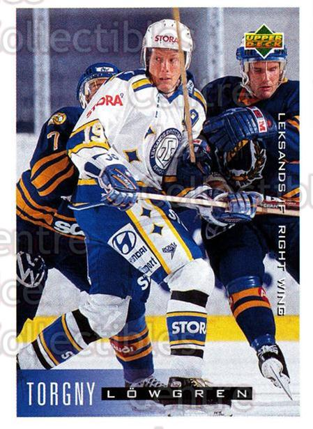 1995-96 Swedish Upper Deck #106 Torgny Lowgren<br/>11 In Stock - $2.00 each - <a href=https://centericecollectibles.foxycart.com/cart?name=1995-96%20Swedish%20Upper%20Deck%20%23106%20Torgny%20Lowgren...&quantity_max=11&price=$2.00&code=44370 class=foxycart> Buy it now! </a>