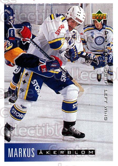 1995-96 Swedish Upper Deck #108 Markus Akerblom<br/>11 In Stock - $2.00 each - <a href=https://centericecollectibles.foxycart.com/cart?name=1995-96%20Swedish%20Upper%20Deck%20%23108%20Markus%20Akerblom...&quantity_max=11&price=$2.00&code=44371 class=foxycart> Buy it now! </a>
