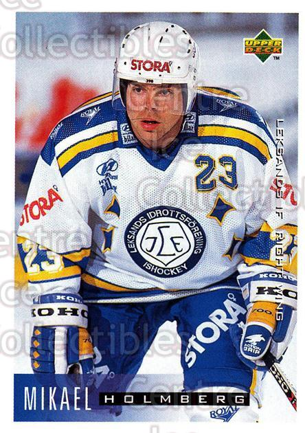 1995-96 Swedish Upper Deck #109 Mikael Holmberg<br/>10 In Stock - $2.00 each - <a href=https://centericecollectibles.foxycart.com/cart?name=1995-96%20Swedish%20Upper%20Deck%20%23109%20Mikael%20Holmberg...&quantity_max=10&price=$2.00&code=44372 class=foxycart> Buy it now! </a>