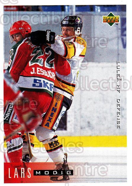 1995-96 Swedish Upper Deck #114 Lars Modig<br/>10 In Stock - $2.00 each - <a href=https://centericecollectibles.foxycart.com/cart?name=1995-96%20Swedish%20Upper%20Deck%20%23114%20Lars%20Modig...&quantity_max=10&price=$2.00&code=44377 class=foxycart> Buy it now! </a>