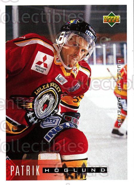 1995-96 Swedish Upper Deck #115 Patrik Hoglund<br/>10 In Stock - $2.00 each - <a href=https://centericecollectibles.foxycart.com/cart?name=1995-96%20Swedish%20Upper%20Deck%20%23115%20Patrik%20Hoglund...&quantity_max=10&price=$2.00&code=44378 class=foxycart> Buy it now! </a>
