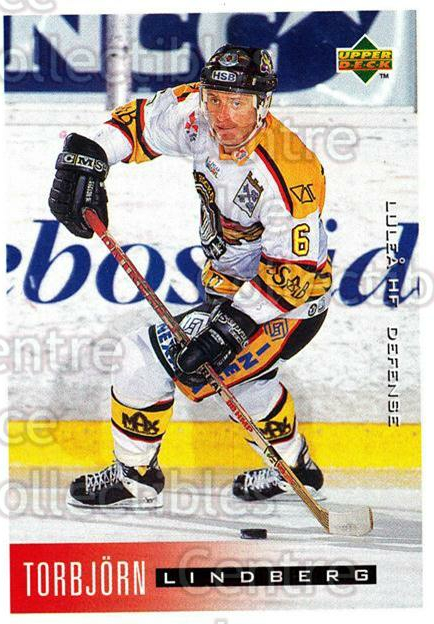1995-96 Swedish Upper Deck #116 Torbjorn Lindberg<br/>12 In Stock - $2.00 each - <a href=https://centericecollectibles.foxycart.com/cart?name=1995-96%20Swedish%20Upper%20Deck%20%23116%20Torbjorn%20Lindbe...&quantity_max=12&price=$2.00&code=44379 class=foxycart> Buy it now! </a>
