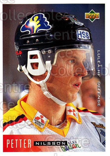 1995-96 Swedish Upper Deck #118 Petter Nilsson<br/>12 In Stock - $2.00 each - <a href=https://centericecollectibles.foxycart.com/cart?name=1995-96%20Swedish%20Upper%20Deck%20%23118%20Petter%20Nilsson...&quantity_max=12&price=$2.00&code=44381 class=foxycart> Buy it now! </a>