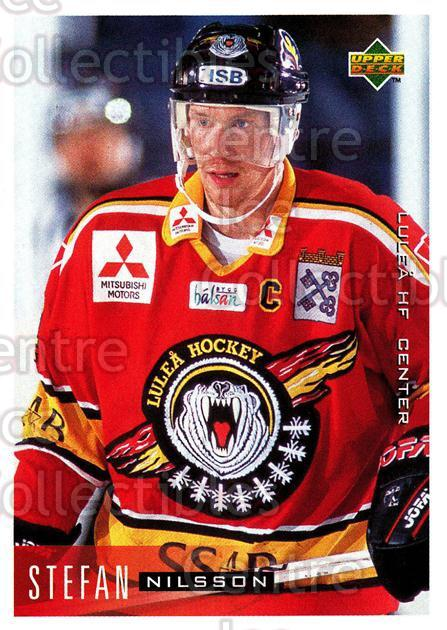 1995-96 Swedish Upper Deck #122 Stefan Nilsson<br/>12 In Stock - $2.00 each - <a href=https://centericecollectibles.foxycart.com/cart?name=1995-96%20Swedish%20Upper%20Deck%20%23122%20Stefan%20Nilsson...&quantity_max=12&price=$2.00&code=44386 class=foxycart> Buy it now! </a>