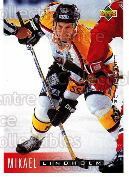 1995-96 Swedish Upper Deck #124 Mikael Lindholm<br/>11 In Stock - $2.00 each - <a href=https://centericecollectibles.foxycart.com/cart?name=1995-96%20Swedish%20Upper%20Deck%20%23124%20Mikael%20Lindholm...&quantity_max=11&price=$2.00&code=44387 class=foxycart> Buy it now! </a>