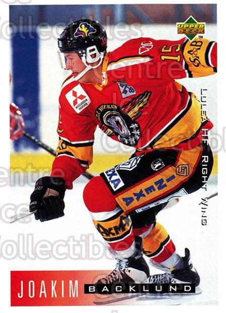 1995-96 Swedish Upper Deck #127 Joakim Backlund<br/>13 In Stock - $2.00 each - <a href=https://centericecollectibles.foxycart.com/cart?name=1995-96%20Swedish%20Upper%20Deck%20%23127%20Joakim%20Backlund...&quantity_max=13&price=$2.00&code=44390 class=foxycart> Buy it now! </a>