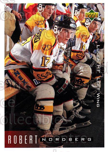 1995-96 Swedish Upper Deck #128 Robert Nordberg<br/>9 In Stock - $2.00 each - <a href=https://centericecollectibles.foxycart.com/cart?name=1995-96%20Swedish%20Upper%20Deck%20%23128%20Robert%20Nordberg...&quantity_max=9&price=$2.00&code=44391 class=foxycart> Buy it now! </a>