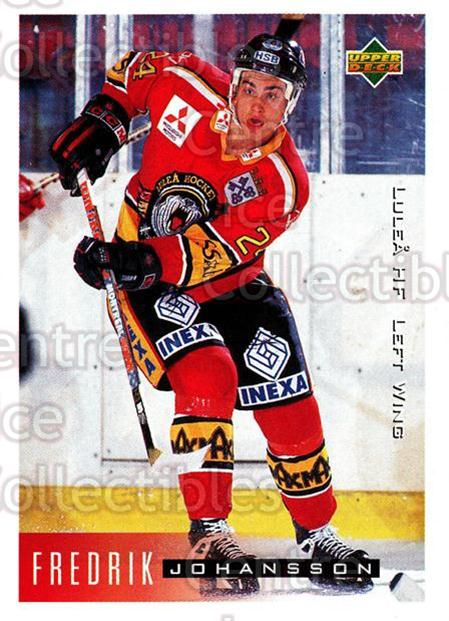 1995-96 Swedish Upper Deck #130 Fredrik Johansson<br/>10 In Stock - $2.00 each - <a href=https://centericecollectibles.foxycart.com/cart?name=1995-96%20Swedish%20Upper%20Deck%20%23130%20Fredrik%20Johanss...&quantity_max=10&price=$2.00&code=44394 class=foxycart> Buy it now! </a>